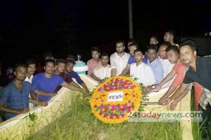 নজরুলের কবর জিয়ারত ও শ্রদ্বা জানালো কেন্দ্রীয় ছাত্রলীগ