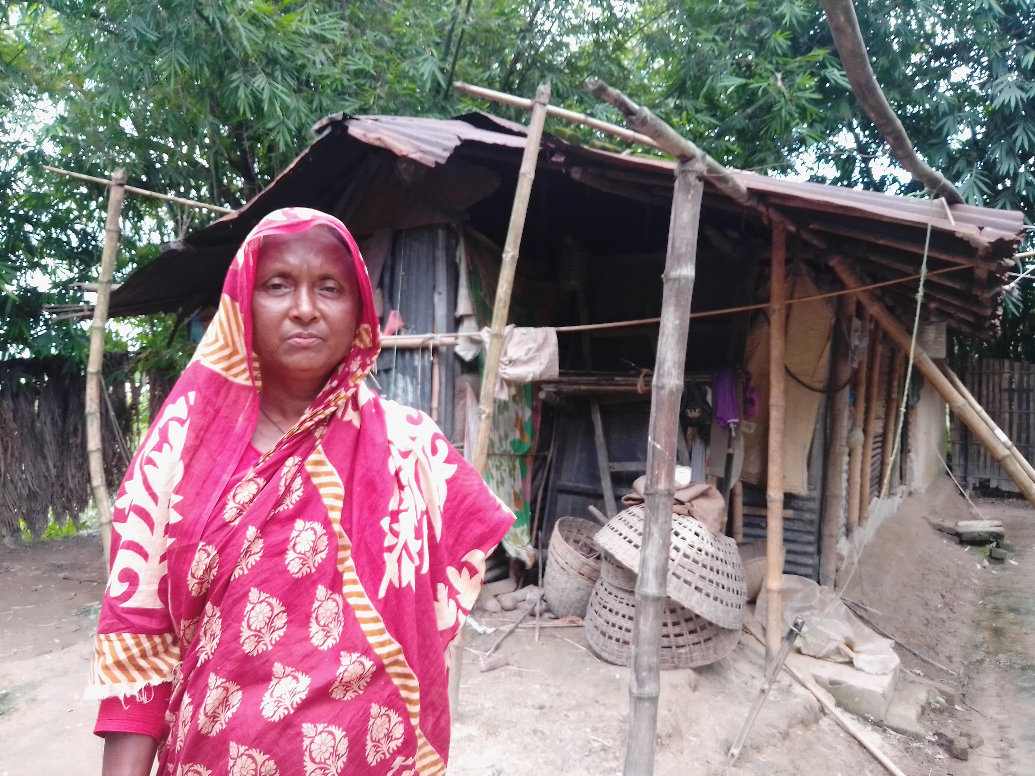 কমলগঞ্জে একটি ঘরের জন্য প্রতিবন্ধি নারীর আহাজারী
