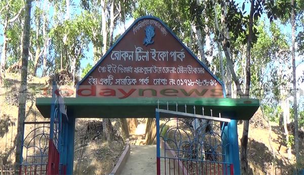 """রাঙ্গিছড়া চা বাগানে """"রোকন টিলা ইকোপার্ক"""" প্রাকৃতিক সৌন্দর্যে ভরপুর"""